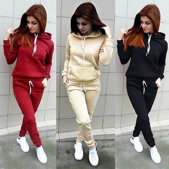 Women Sportswear Autumn Tracksuit Hoodies Pants Tracksuit Sweatshirt Sweat Suit