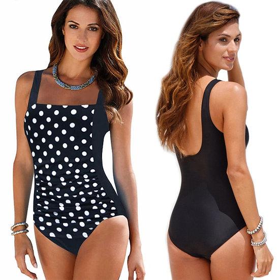 Bikini 2020 New One Piece Swimsuit Women Plus Size Swimwear Large Size Vintage