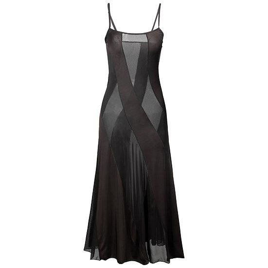 Plus Size S-6xl Hot Style Women Solid Long Dress Sexy Lingerie Summer Transparen