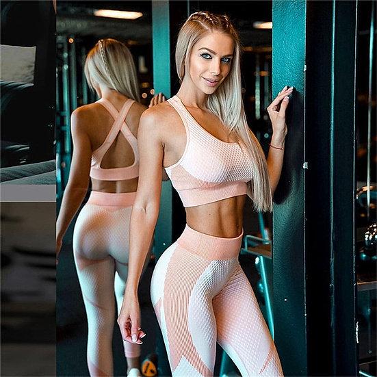 Women Thickness Seamless Yoga Set Sportswear Fitness Sport Gym Running Yoga Suit