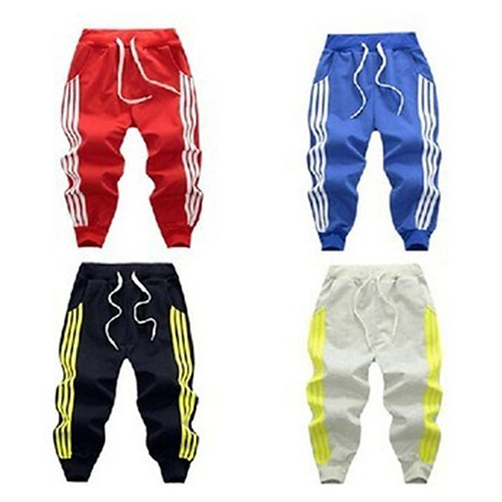 2021 Children Sport Pants for Baby Boys Girls Trousers Warm Stripe Clothes