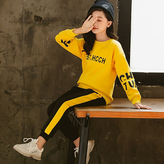 Girls Clothes 2020 Autumn Spring Long Sleeve Shirts + Pant 5 6 7 8 9 10 12 Years