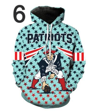 American Football Hoodie Men Hoody Hip Hop 3d Print Pul