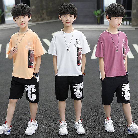 Boys Clothing Sets Children T-Shirt Short Sleeve + Pant 6 8 10 11 12 13 14 Years