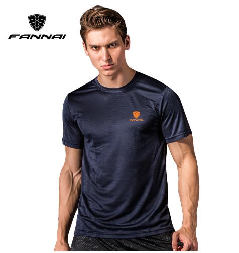 FANNAI T shirt men Sport Tops Tees Quick Dry Running Shirts men basketball Gym T
