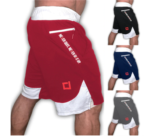 2020 New Quick Dry Mens Sports Running Shorts Active Training Exercise Jogging 2