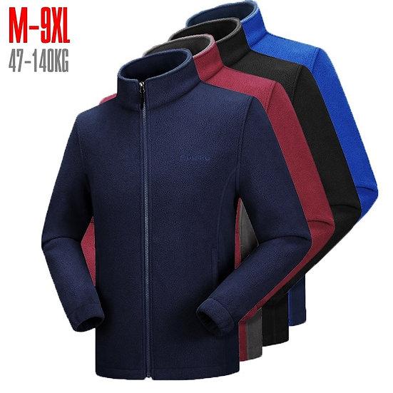 Men's Fleece Jacket Large Size Big and Tall Men Clothing Jacket Liner Autumn