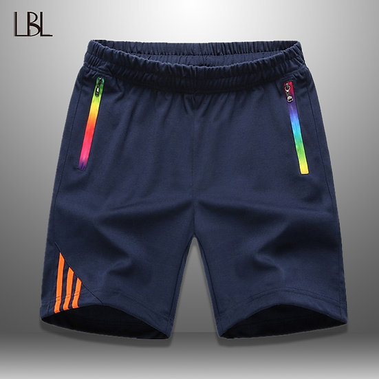 LBL Striped Shorts Men Summer Men's Sportswear Casual Boardshorts Man Zipper
