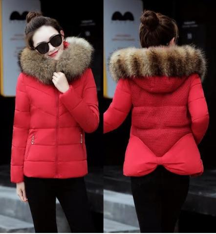 Fake fur collar Parka down cotton jacket 2018 Winter Jacket Women thick Snow Wea