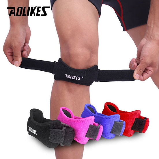 AOLIKES 1PCS Adjustable Knee Support Brace Patella Sleeve Wrap Cap Stabilizer