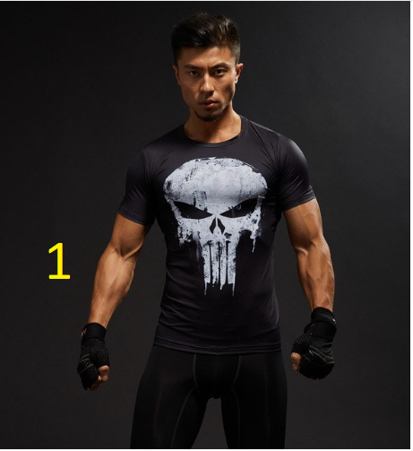 Men's T-shirt Black Panther 3 D Printed T-shirts Men Compression Shirt Captain A
