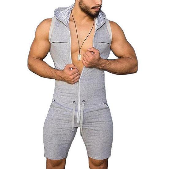 Sexy Onesies for Adults Mens Pajamas Sportswear Lounge Wear Jumpsuit  Zipper
