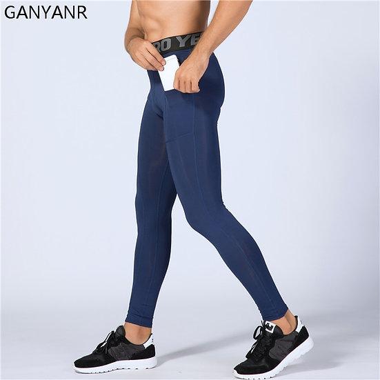 Running Tights Men Yoga Basketball Sport Leggings Fitness Compression Pants