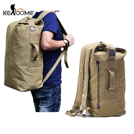 Large Travel Climbing Bag Tactical Military Backpack Women Army Bags Canvas