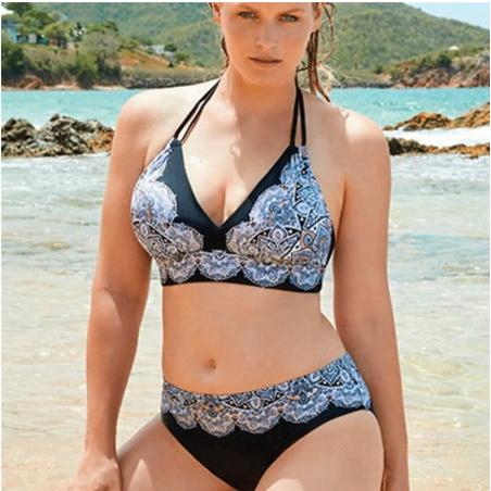 Swimming Suit For Women Bikini Set Plus Size Women Low Waist Push Up Big Large S