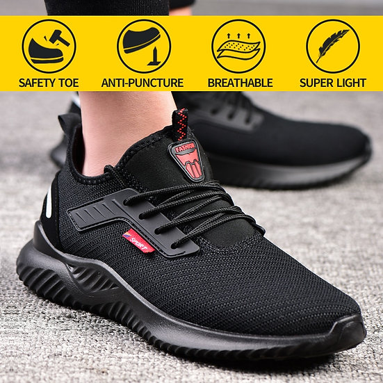 Work Safety Shoes Anti-Smashing Steel Toe Puncture Proof Construction Lightweigh