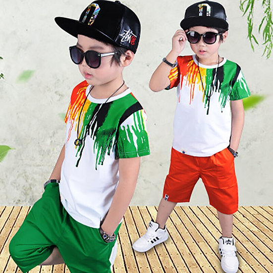 2Pcs Color Printing Children Suit Children Clothing for Boys Clothes Suits New