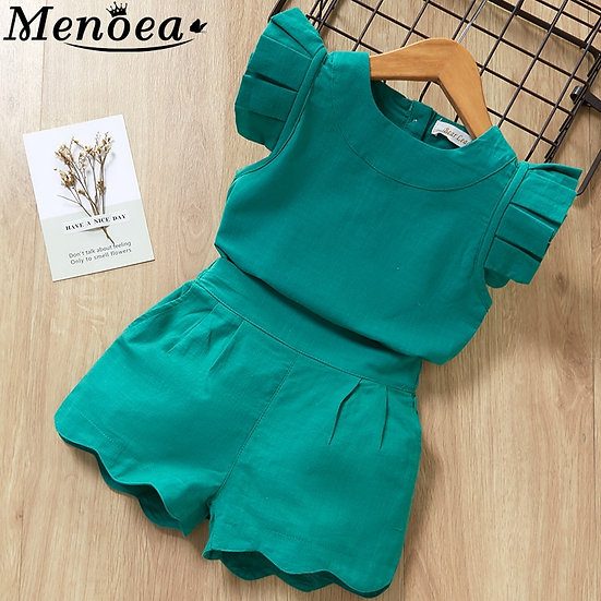 Kids Girls Clothing Sets Summer New Style Brand  Baby Girls Clothes Short Sleeve