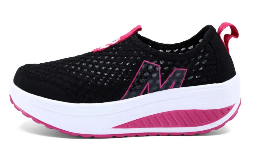 New Women's Shoes Casual Sport Fashion Shoes Walking Flats Height Increasing Wom