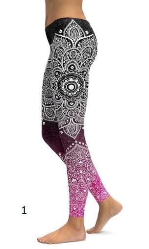LI-FI Print Yoga Pants Women Unique Fitness Leggings Workout Sports Running Legg