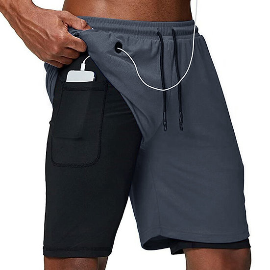2020 Running Shorts Men Fitness Gym Training Sports Shorts Quick Dry Workout Gym