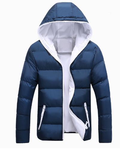 New Jackets Men Winter Casual Outwear Windbreaker Jaqueta Masculino Solid S