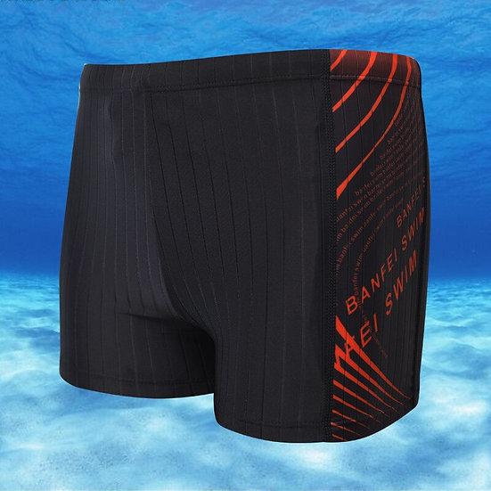 XL-4XL Plus Size Swimming Trunks Flat Angle Shorts Jammers Swimwear New Men
