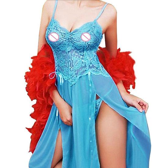 M-6xl Plus Size Lingerie Sexy Hot Erotic Transparent Chemises Hot Women 4