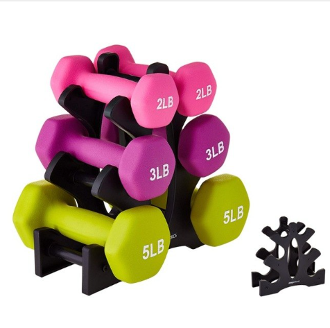 Gym accessories adjustable sports equipment dumbbell bracket gym dumbbell rack F