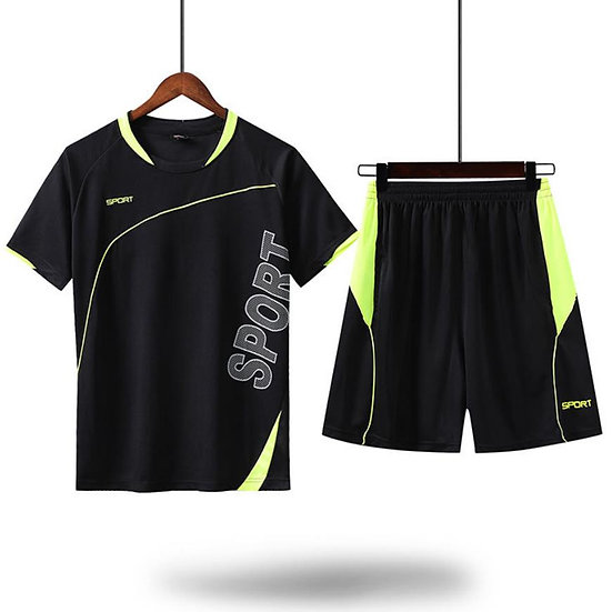 2020 Summer Men's  Sports Sets Tracksuit Clothing Print Male Shorts + T Shirt Me