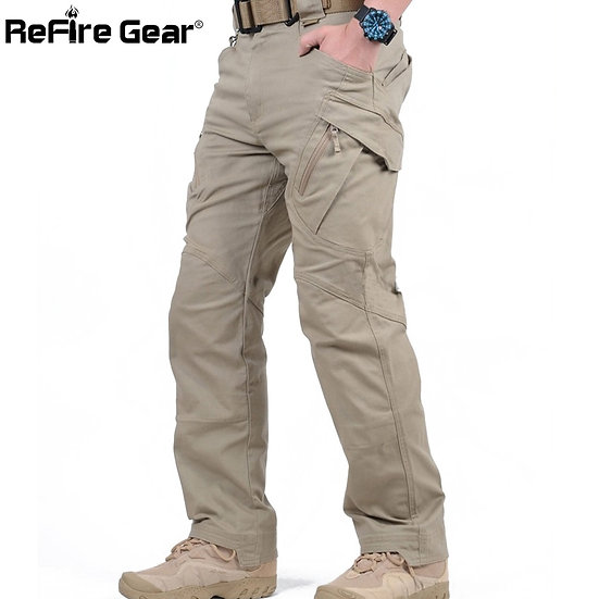 IX9 City Tactical Cargo Pants Men Combat SWAT Army Military Pants Cotton Many