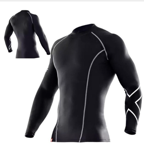 Men compression tight clothes long-sleeved t shirt Breathable Superelastic Jogge