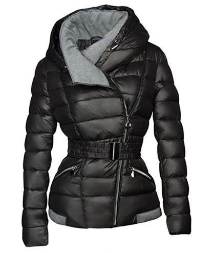 2018 Winter Coats Women Parkas Cotton Warm Thick Short Jacket Coat with Belt Sli
