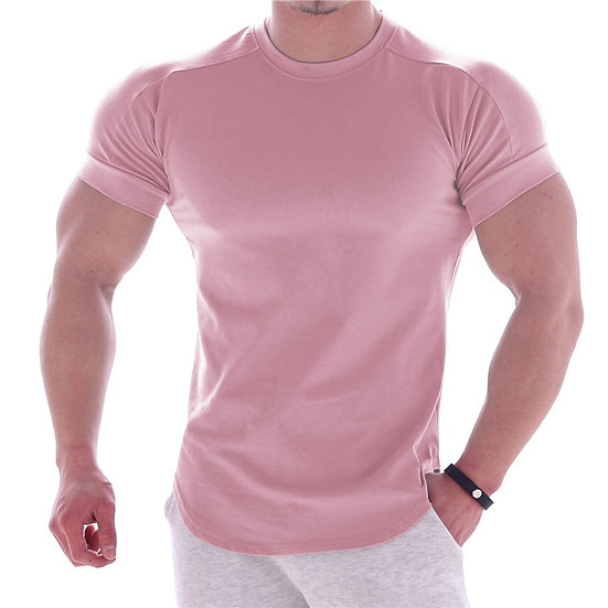 2020 Summer Sports T Shirt Men Gyms Fitness Short Sleeve T-Shirt Male Quick-Dry