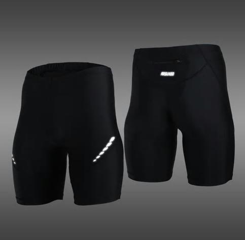Pro Men's Running Tights Short Reflective Quick Dry Elastic Sports Leggings Comp