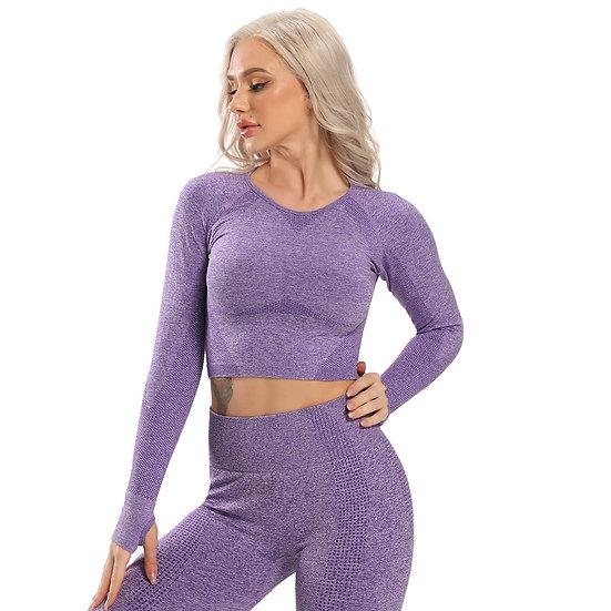 Seamless Yoga Top Long Sleeve Workout Tops for Women Crop Tops Women 2020 Sports