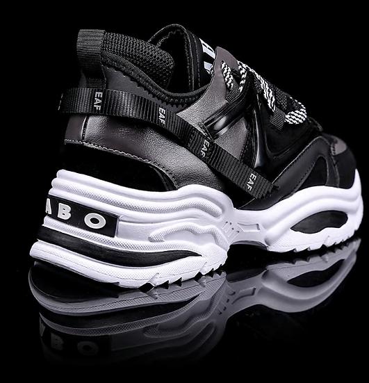 Stylish Women Running Shoes Increasing 6CM INS Ulzza Harajuku Sneakers Cushionin