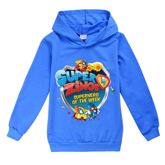 Girls Boys Hoodies Outerwear Super Zings Superzings Hooded Children Toddler