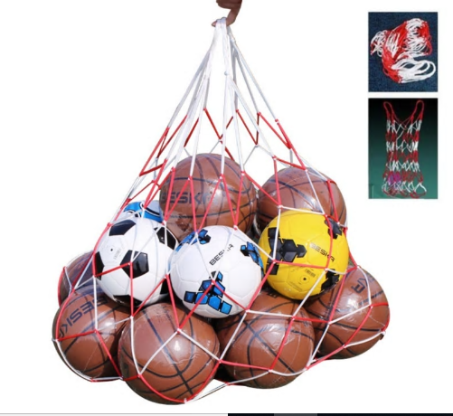 Outdoor sporting Soccer Net 10 Balls Carry Net Bag Sports Portable Equipment Foo
