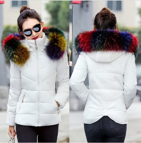Fake fur collar Parka down cotton jacket 2018 Winter Jacket Women thick