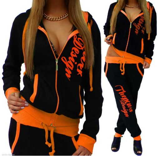 ZOGAA Women 2 Piece Set Tracksuit Sportswear Casual Hooded Sweatshirt with Pants
