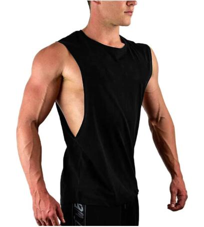 New Men's Cut Off Sleeveless shirt Gyms Stringer Vest Blank Workout Shirt Muscle