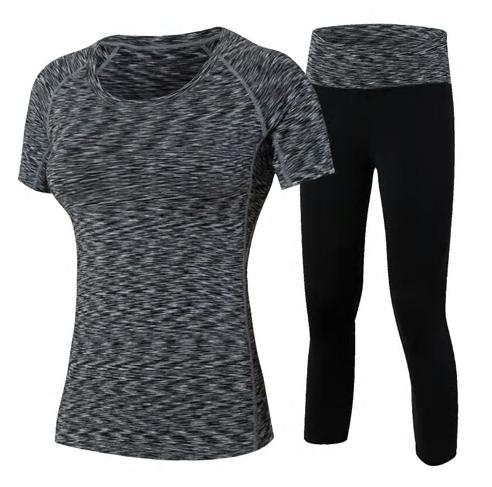 New Women Yoga Set Fitness 2 Piece Sport Running Suit High Waist Workout Se