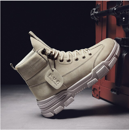 New Arrival Ankle Boots Leather Sneakers Male Shoes Casual Sneakers High Top Sho