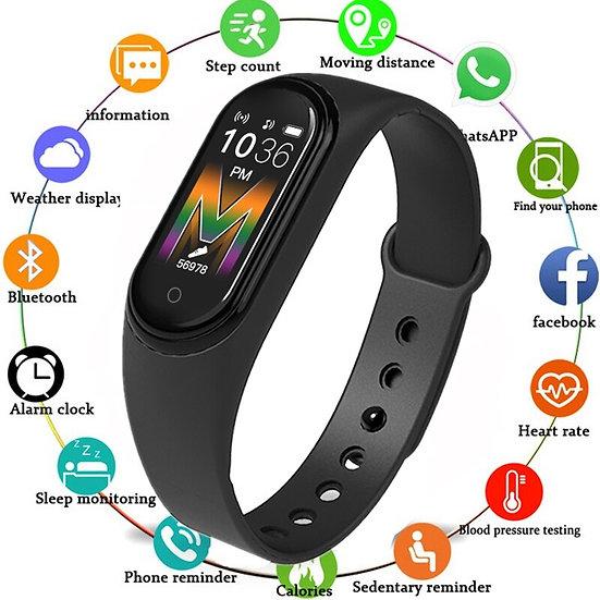 New M5 Smart Bracelet IP68 Waterproof Smart Watch Bluetooth Call Music Play