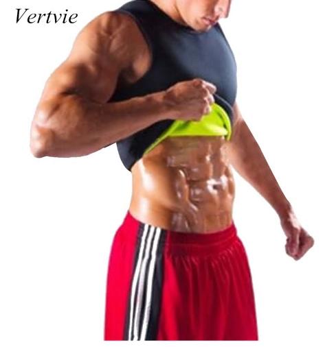 vertvie Men Sauna Vest Sweat Hot Shapers Shirt Fit Running Shirt Men Shaper Spor