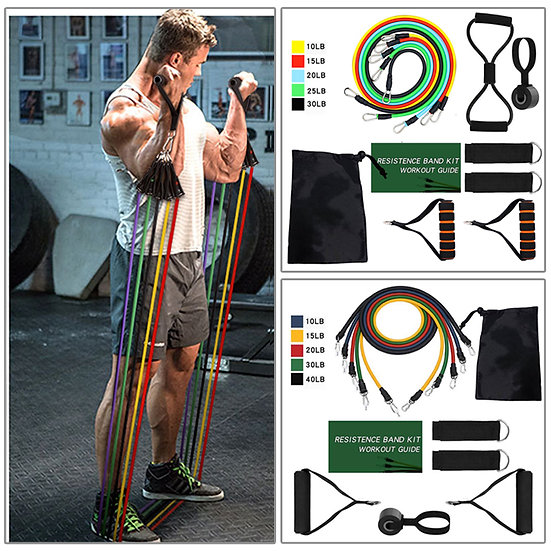 Eight Kinds of Resistance Bands Sets Elastic Tubes Band Training Yoga Exercise