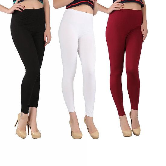 Fashion 2017 Spring and Summer Autumn Women Bamboo Fiber High Elastic Slim Leg
