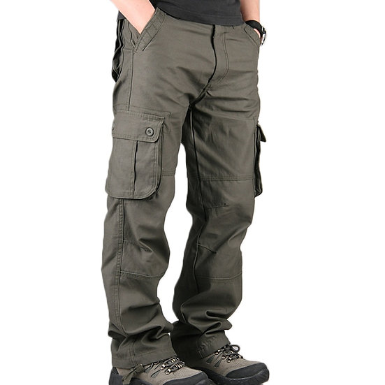 Mens Pants Men's Cargo Casual Multi Pockets Military Large Size 44 Tactical Pant