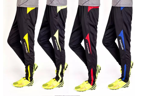 Slim Running Sweatpant Zipper Leg Closing Outdoor Male Femal Man Woman Soccer Tr